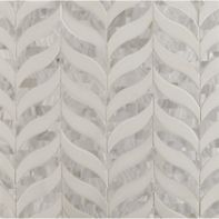 madelyn mosaic in shell and thassos in honed