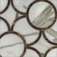 montgomery medium mosaic in calacatta tia and emperador dark
