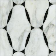 spencer mosaic in negro marquina and calacatta tia