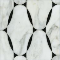 spencer mosaic in negro marquina and calacatta tia