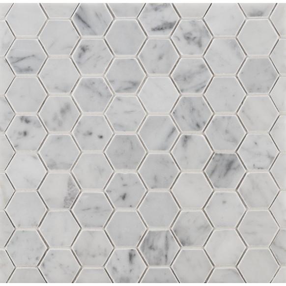 2 Hexagon Mosaic In Honed Finish