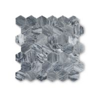 "Catia Grey 2"" hexagon honed mosaic"