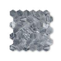 """Catia Grey 2"""" hexagon honed mosaic"""