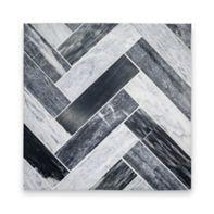 Catia Black  Herringbone Mosaic
