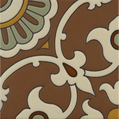 "6"" x 6"" mcq-12 decorative tile in mp81, mp166, mp47, mp23 and mp65 colors"