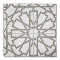 "6"" x 6"" mcq-19 decorative tile in Talc, Feather"