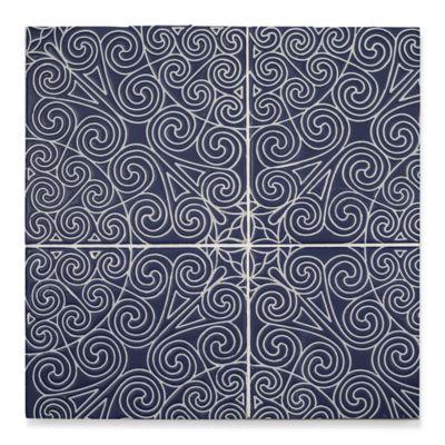 "6"" x 6"" mcq-32 decorative tile in Indigo"