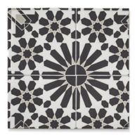 "6"" x 6"" mcq-33 decorative tile in Talc, Fog, Carbon"