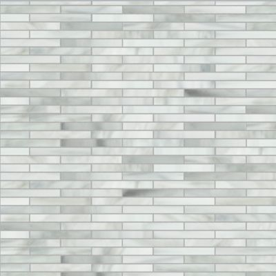 small reed mosaic in rain cloud