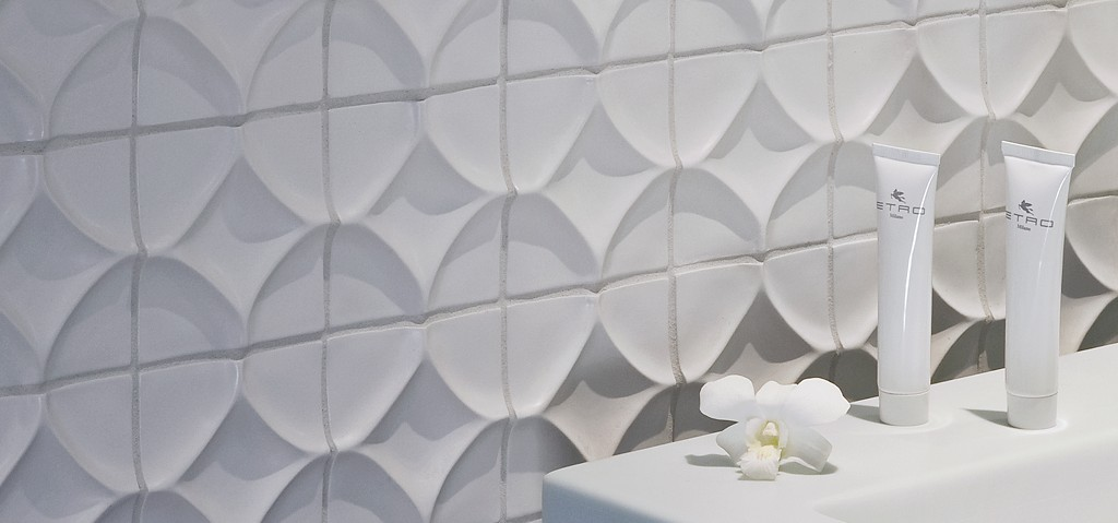 4 X Harlequin Decorative Tile In Bright White Matte