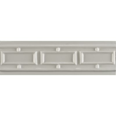 "2-1/2"" x 8"" rectangle border trim in bright white gloss"