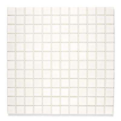 "1""x1"" mosaic in gloss white"