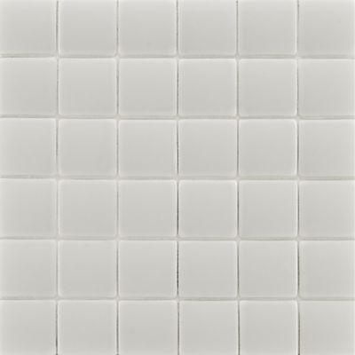 "1-3/4"" x 1-3/4"" pillowed mosaic in gloss white"
