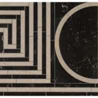 emilio grid field with nero marquina and morning rose