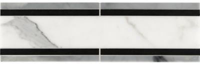 linea border #1 with calacatta oro, nero panthera and marino blue