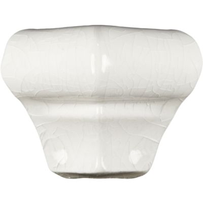 """1"""" x 1"""" cap out corner molding in white crackle"""