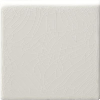 """4"""" x 4"""" surface bullnose trim in white crackle"""
