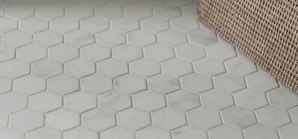 8 X 16 Field And 2 Hexagon Mosaic In Honed Finish Shown