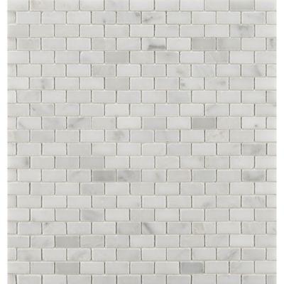 "1/2"" x 1"" mini brick mosaic in honed finish"