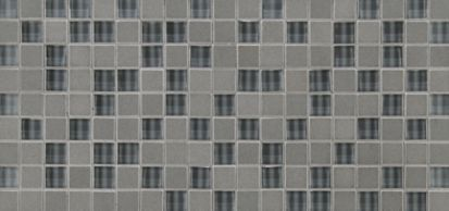 """5/8"""" straight mosaic in luxor with grey glass"""