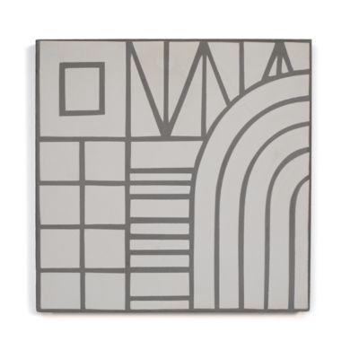 """8"""" x 8"""" Archetype II in white steel"""