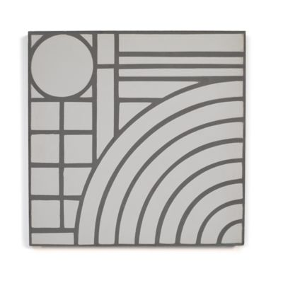 "8"" x 8"" Archetype I in white steel"