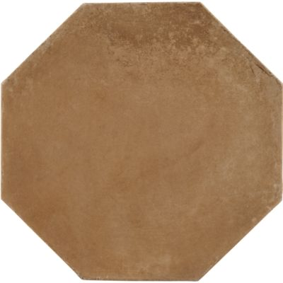 "8"" x 8"" octagon and dot field in cotto gold"