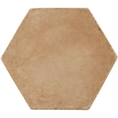 "5-3/4"" x 6"" hexagon 6"" field in cotto gold"