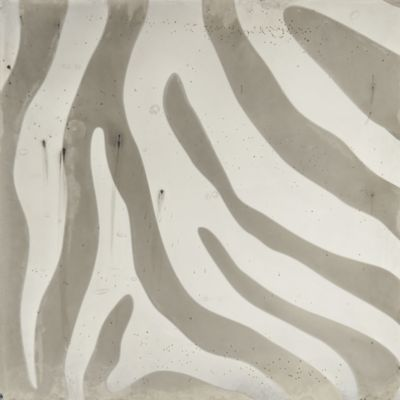 "10"" x 10"" zebra 1 field in argent"
