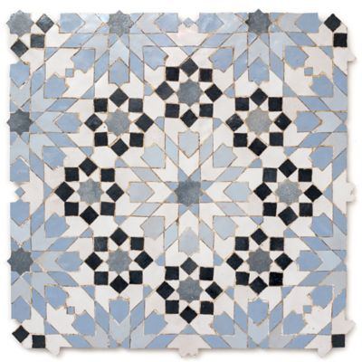 guercif mosaic in blue