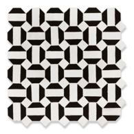 Itzer mosaic in white carrare and black kôhl