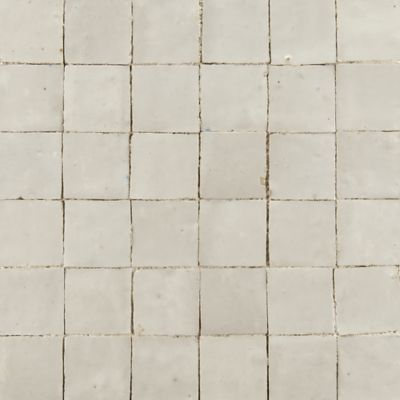 """2"""" x 2"""" stacked mosaic in white"""