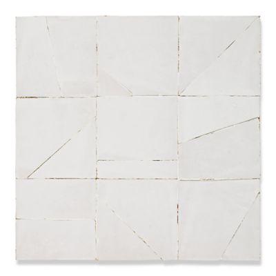 Saidia mosaic in white carrare