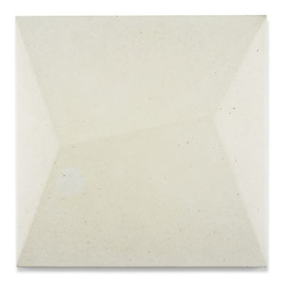 "12"" x 12"" 3D Zed in white"