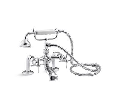 Bath Faucet with Handshower, Cross Handles