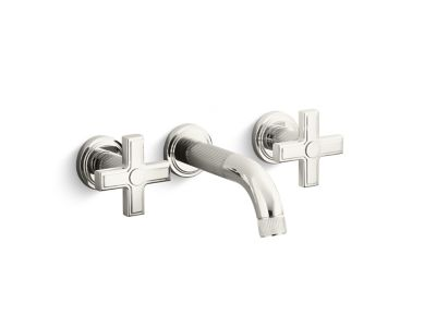 Wall-Mount Sink Faucet, Cross Handles