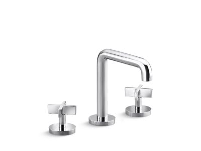 Sink Faucet, Tall-Spout, Cross Handles