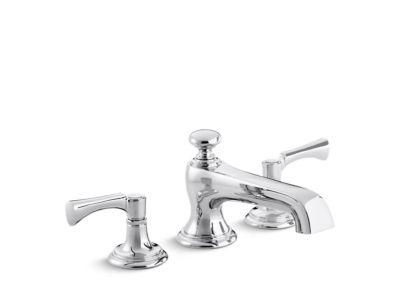 Deck-Mount Bath Faucet, Lever Handles