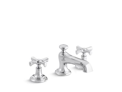 Sink Faucet, Traditional Spout, Cross Handles