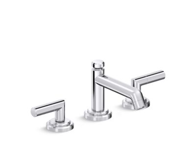 Sink Faucet, Low Spout, Lever Handles
