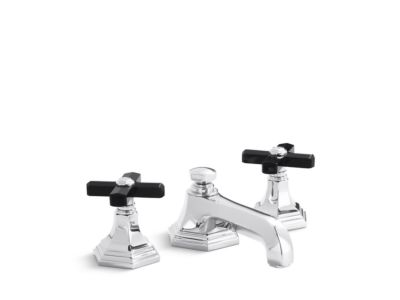 Sink Faucet, Black Obsidian Cross Handles