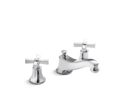 Deck-Mount Bath Faucet, Cross Handles