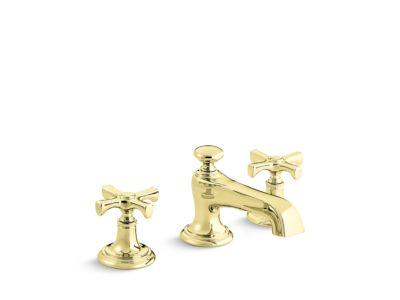 Sink Faucet, Traditional Spout, Cross Handles