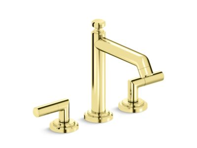 Deck-Mount Bath Faucet with Diverter