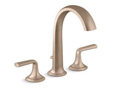 Deck-Mount Bath Faucet with Diverter, Lever Handles
