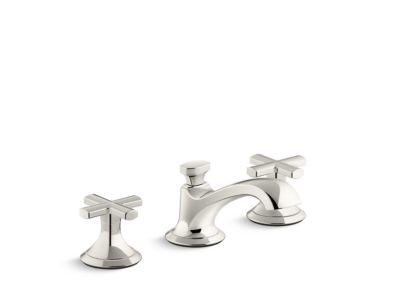 Sink Faucet, Low Spout, Cross Handles