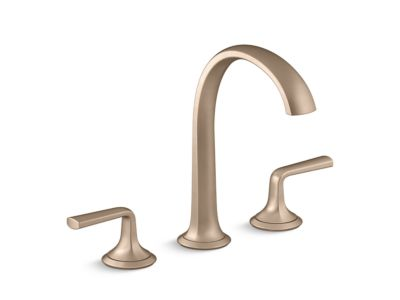 Sink Faucet, Arch Spout, Lever Handles