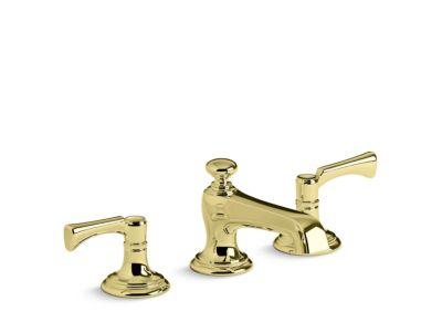 Sink Faucet, Traditional Spout, Lever Handles