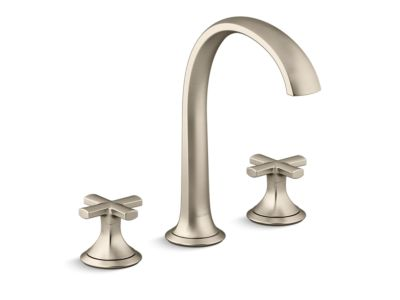 Sink Faucet, Arch Spout, Cross Handles