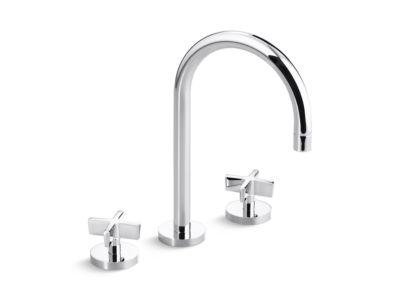 Sink Faucet, Gooseneck Spout, Cross Handles
